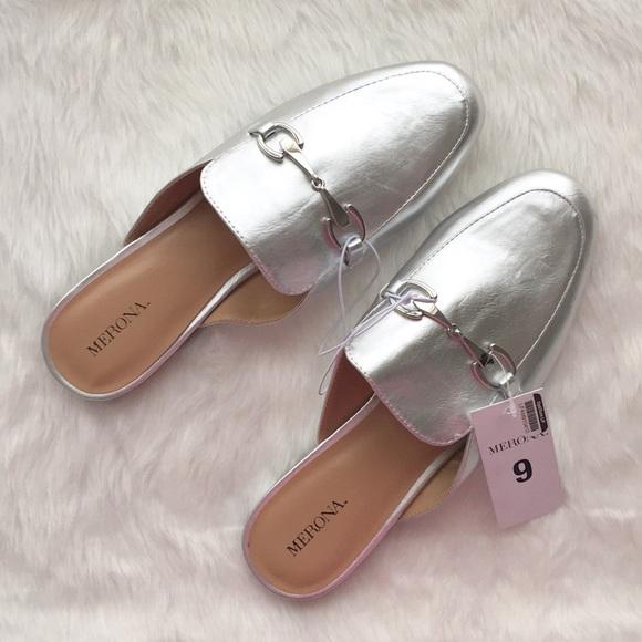 1d63a923d04 Merona Silver Kona Backless Mule Loafers